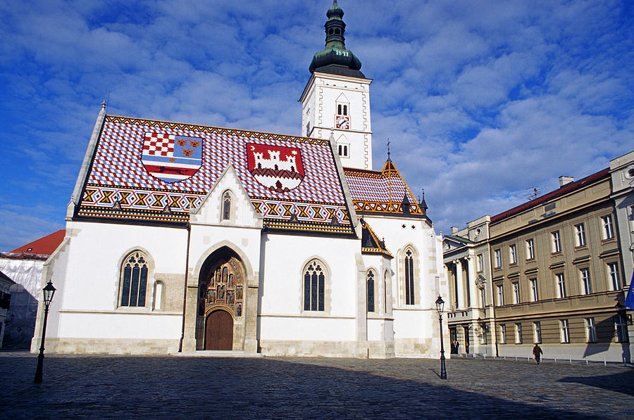 St Marco Zagreb Croatia by Dubravko Grakalic