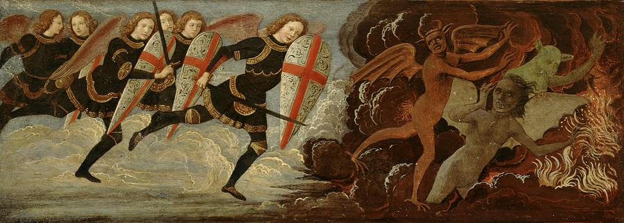 St. Michael And The Angels At War With The Devil Painting  - St. Michael And The Angels At War With The Devil Fine Art Print