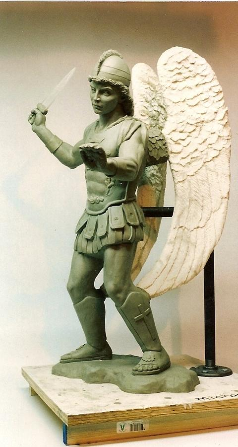 Archangel Used For A Monumental Size Piece. Sculpture - St. Michael by Patrick RANKIN