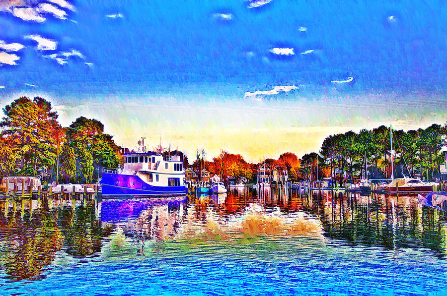 St. Michaels Marina Photograph  - St. Michaels Marina Fine Art Print