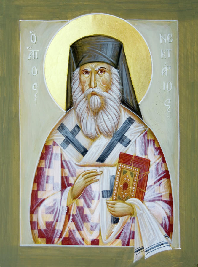St Nektarios Of Aigina II Painting