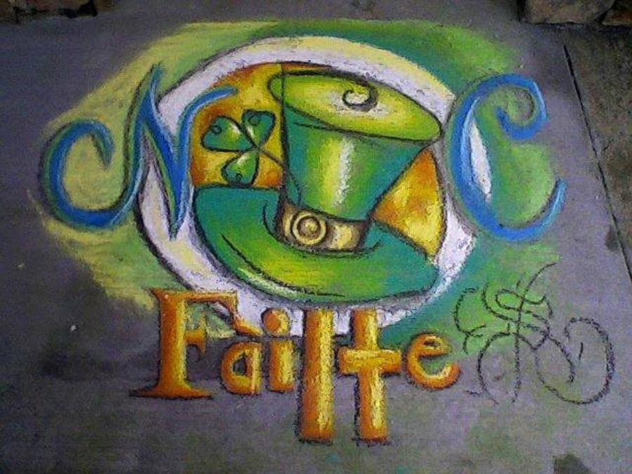 St Patricks Day Ncohc Welcome Pastel  - St Patricks Day Ncohc Welcome Fine Art Print