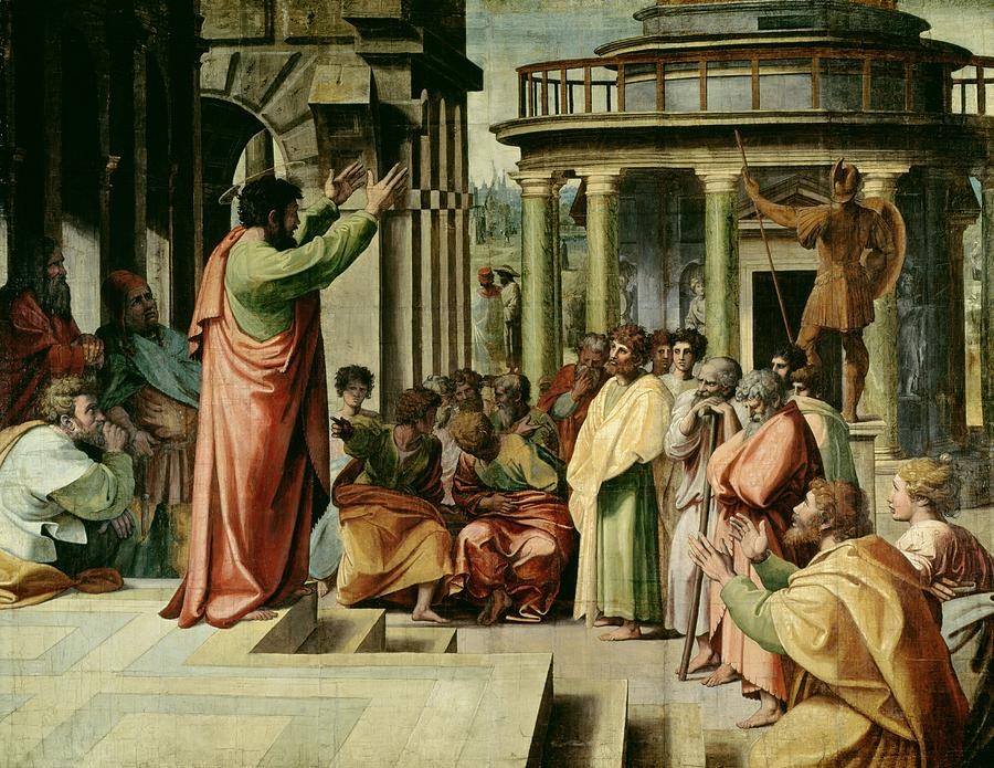 St. Paul Preaching At Athens  Painting  - St. Paul Preaching At Athens  Fine Art Print