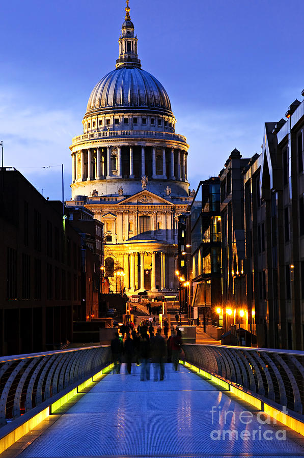 St. Pauls Cathedral From Millennium Bridge Photograph
