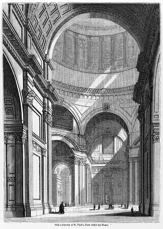 St. Pauls Cathedral, Historical Artwork Photograph