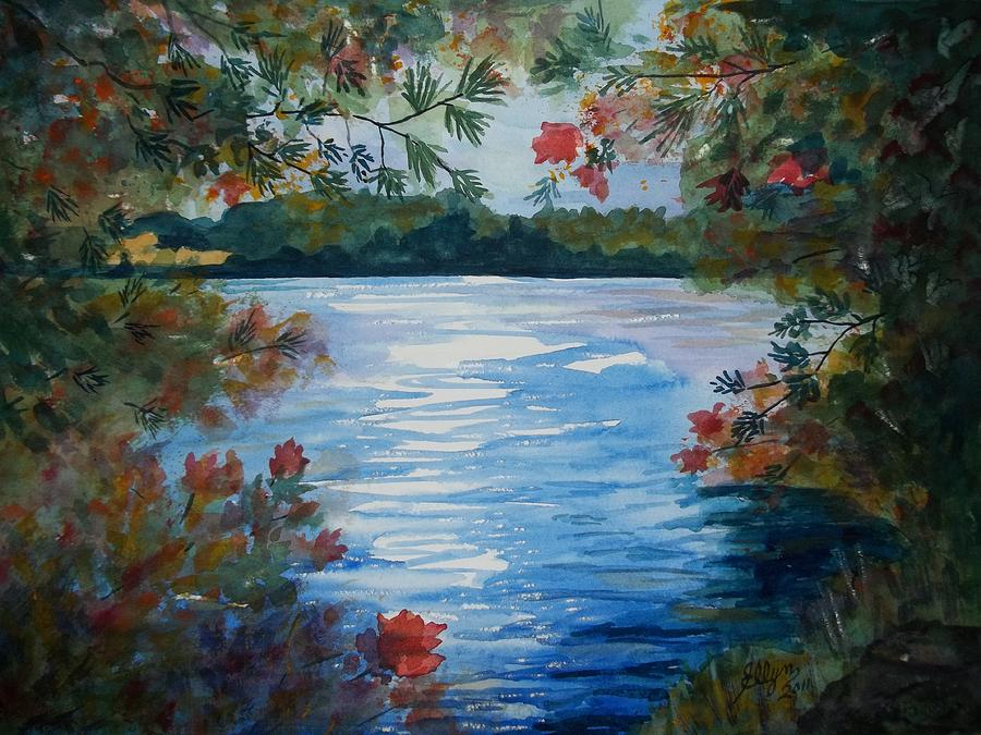 St. Regis Lake Painting  - St. Regis Lake Fine Art Print