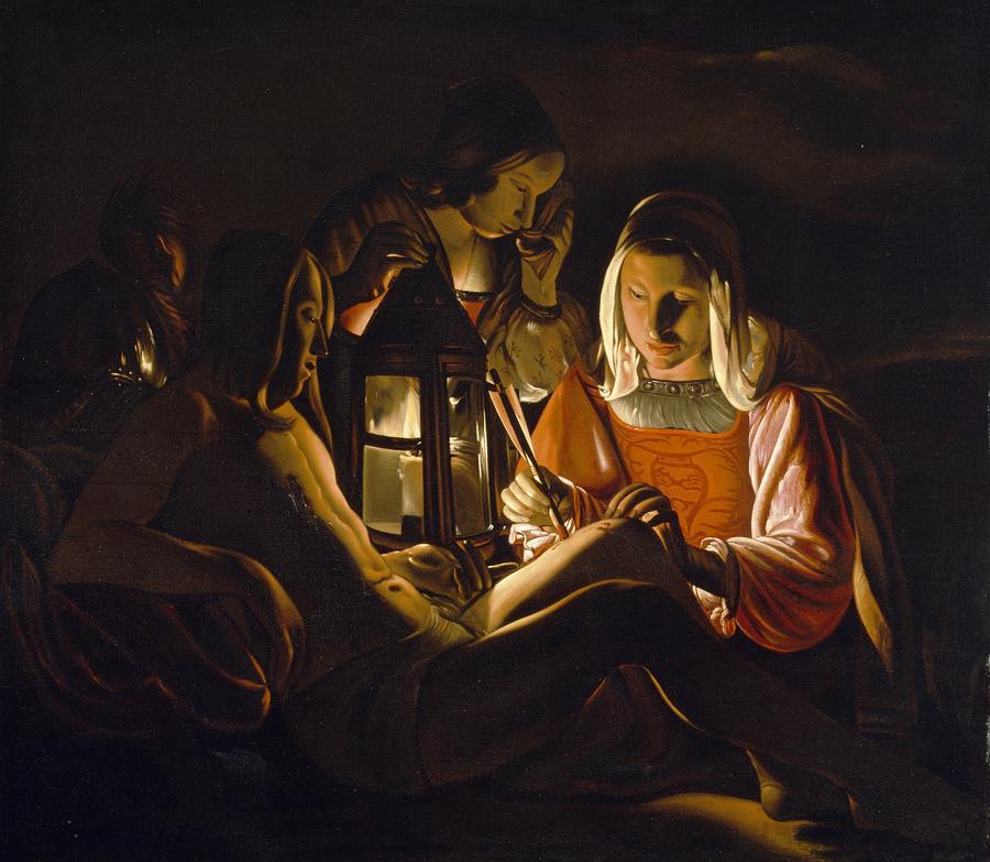 St. Sebastian Tended By Irene Painting