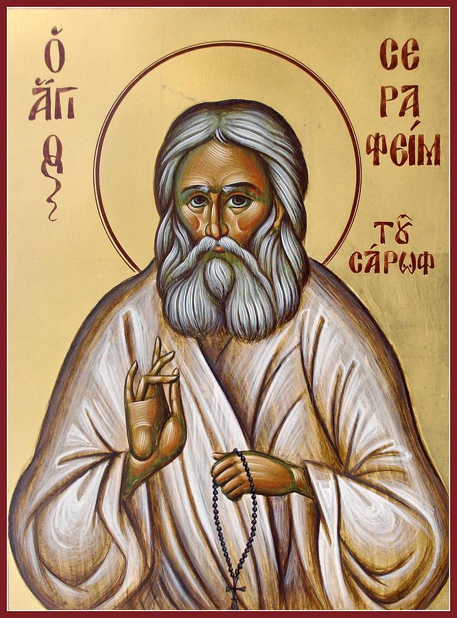 St Seraphim Of Sarov Painting