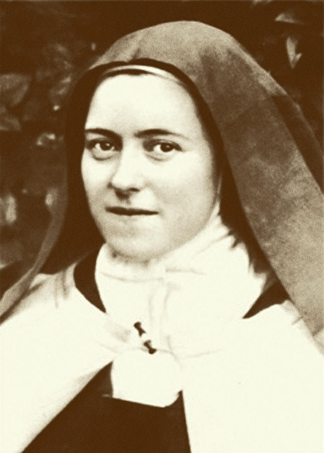St. Therese Of Lisieux - The Little Flower Digital Art  - St. Therese Of Lisieux - The Little Flower Fine Art Print