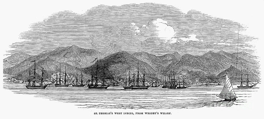 St. Thomas, 1844 Photograph