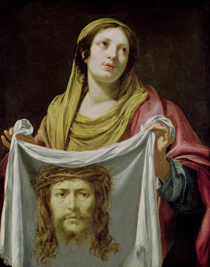 St. Veronica Holding The Holy Shroud Painting