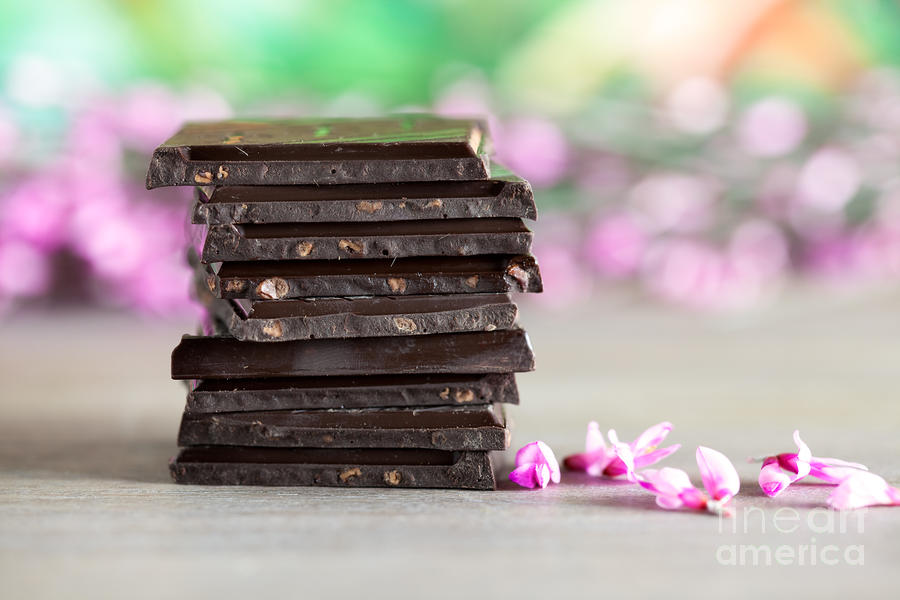 Stack Of Chocolate Photograph  - Stack Of Chocolate Fine Art Print