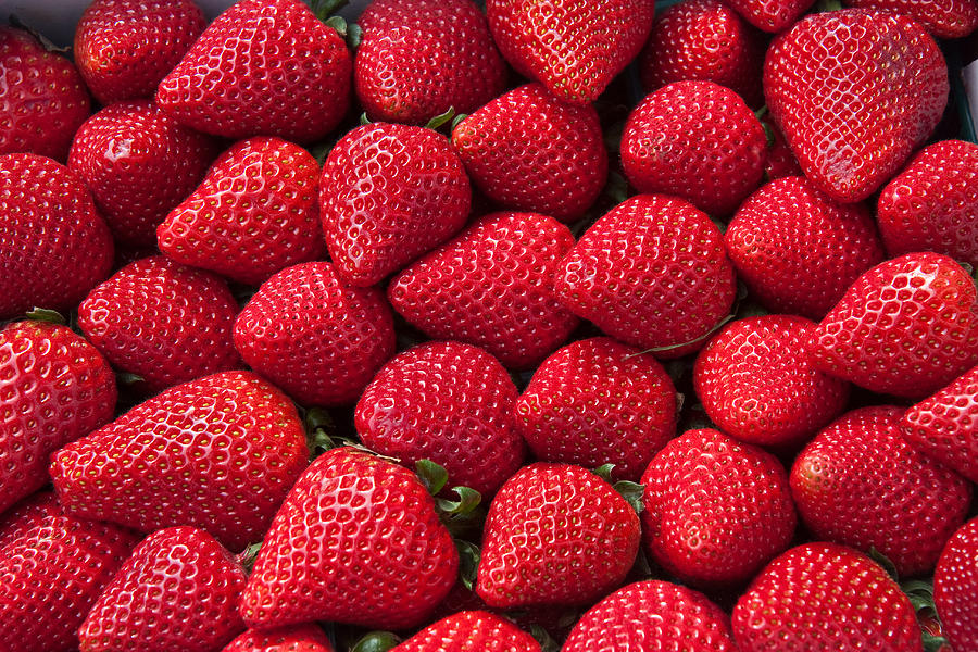 Stack Of Strawberries Photograph