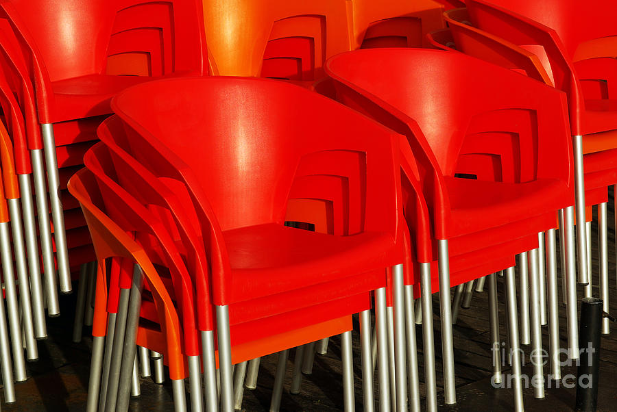 Stacked Chairs Photograph