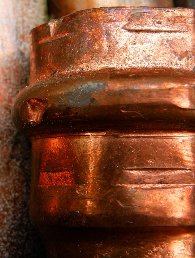 Stacked Copper Pipes 2 Photograph By Megan Brandl