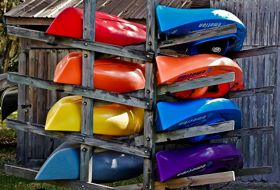 Kayaks Photograph - Stacked Emotions by DigiArt Diaries by Vicky B Fuller