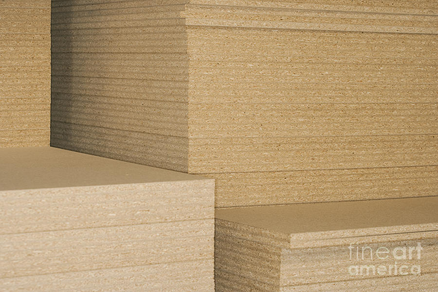 Stacks Of Plywood Photograph