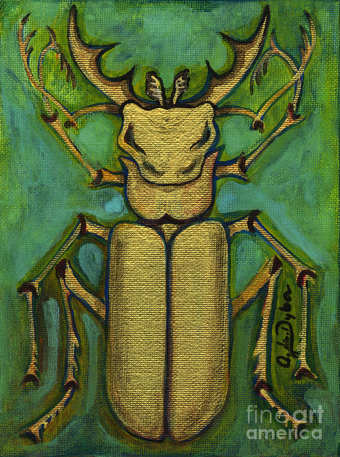 Stag Beetle Painting