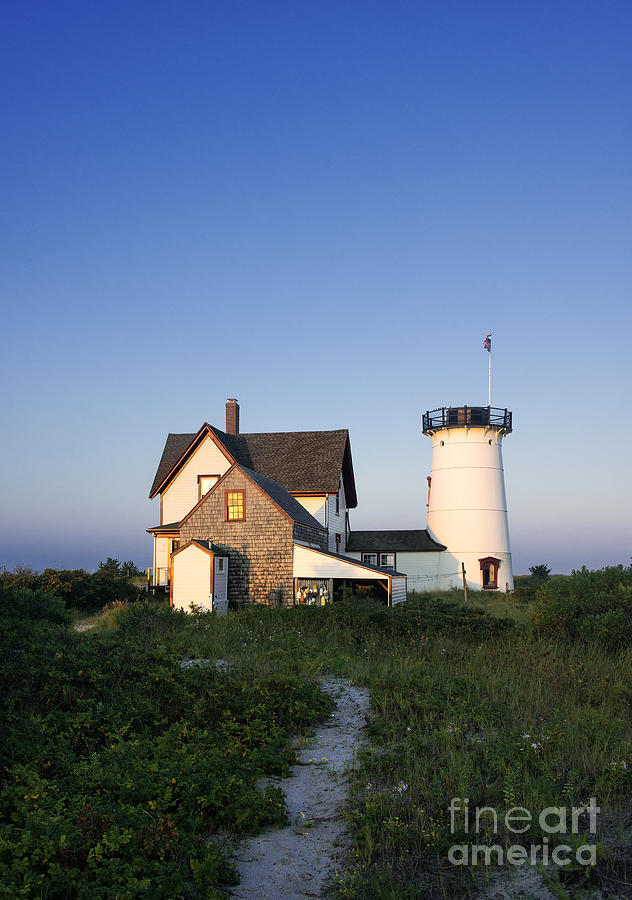 Stage Harbor Lighthouse Photograph  - Stage Harbor Lighthouse Fine Art Print