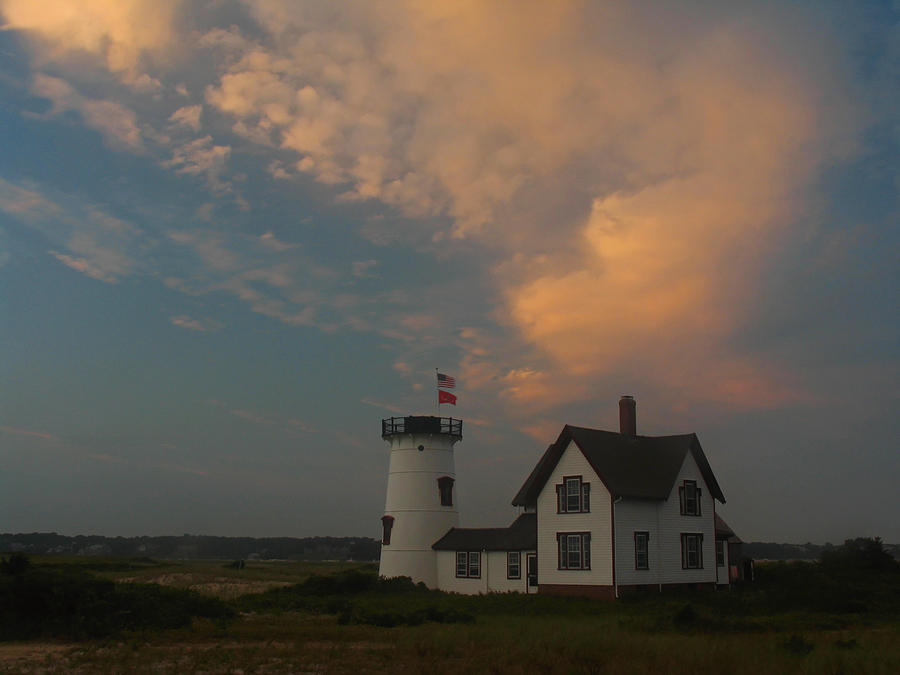 Stage Harbor Lighthouse Photograph