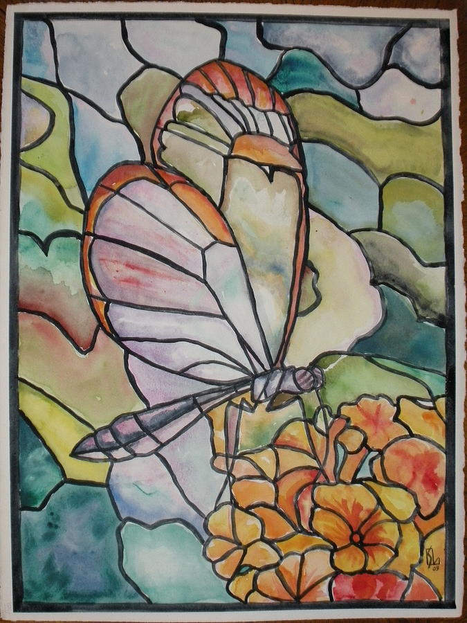 Butterfly designs for glass painting - photo#49