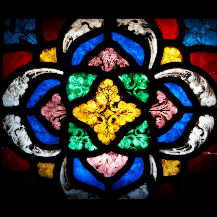 Stained Glass Flourishes Photograph