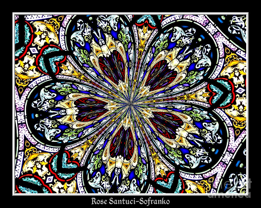 Stained Glass Kaleidoscope 38 Photograph  - Stained Glass Kaleidoscope 38 Fine Art Print