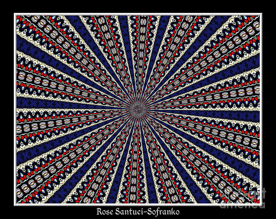 Stained Glass Kaleidoscope 49 Photograph  - Stained Glass Kaleidoscope 49 Fine Art Print