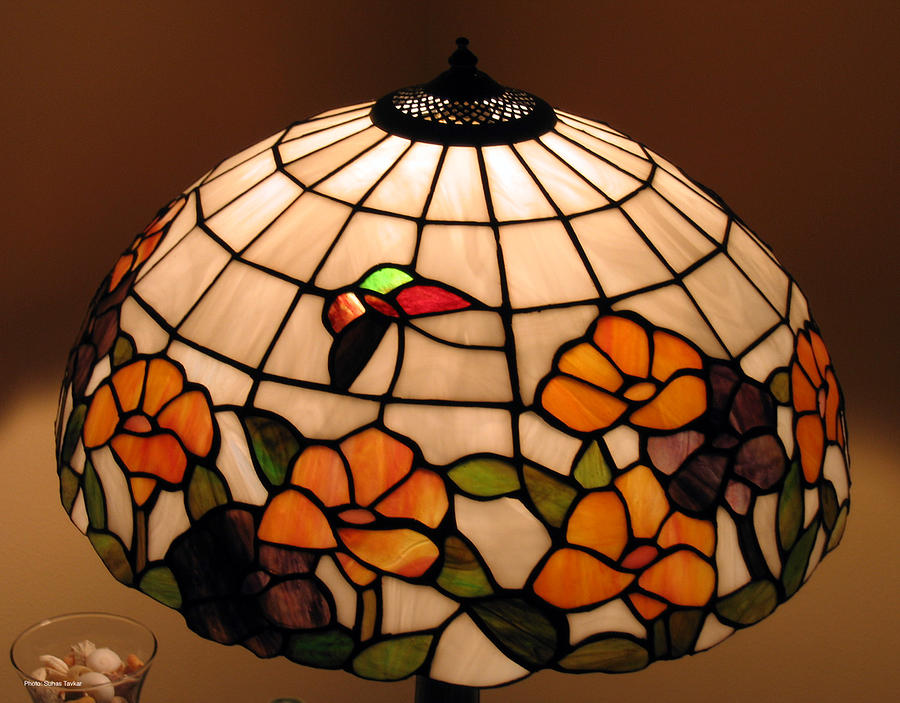 Stained Glass Lampshade Photograph  - Stained Glass Lampshade Fine Art Print