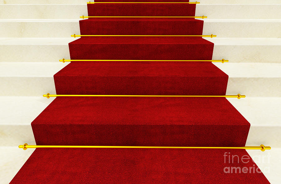 Stair And Red Carpet Photograph  - Stair And Red Carpet Fine Art Print