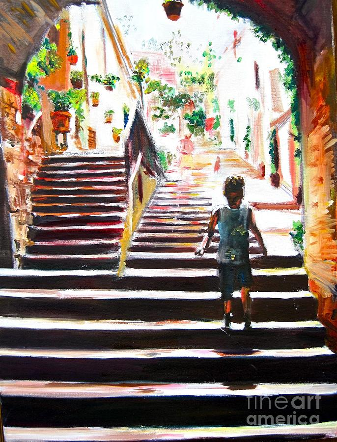 Stairs Painting  - Stairs Fine Art Print