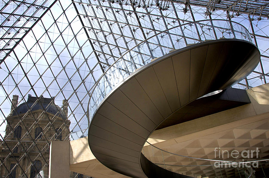 Stairs In Louvre Museum. Paris.  Photograph  - Stairs In Louvre Museum. Paris.  Fine Art Print