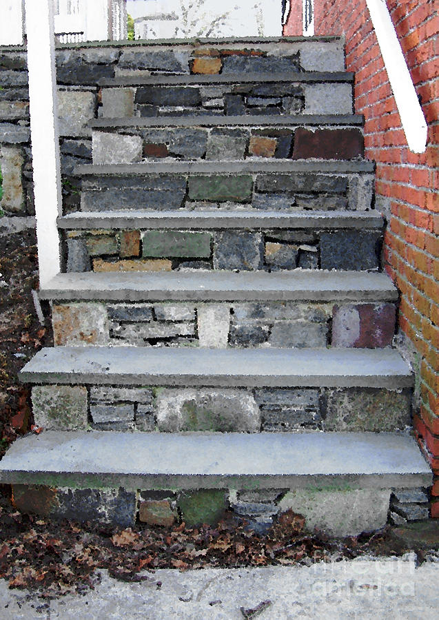 Stairs To The Plague House Photograph