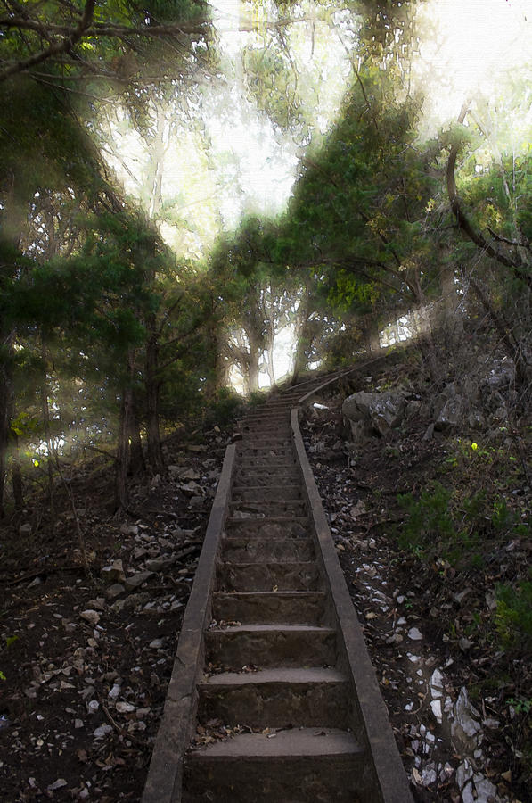 Ascend Photograph - Stairway To Heaven by Ricky Barnard