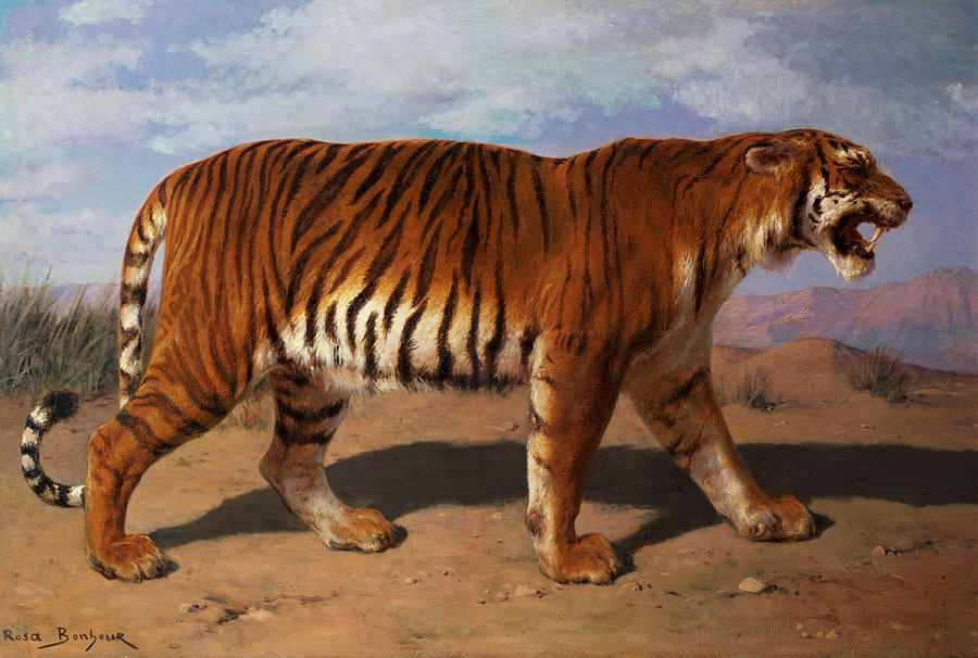 Stalking Tiger Painting
