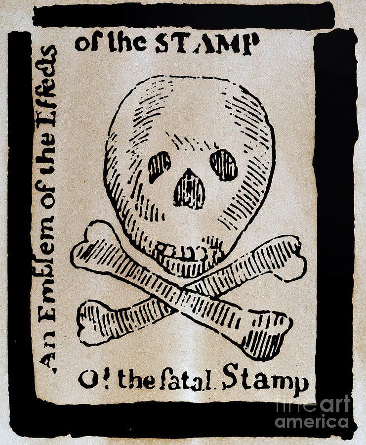 Stamp Act: Cartoon, 1765 Photograph