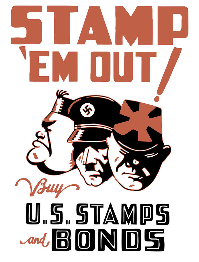 Stamp em Out  Painting  - Stamp em Out  Fine Art Print