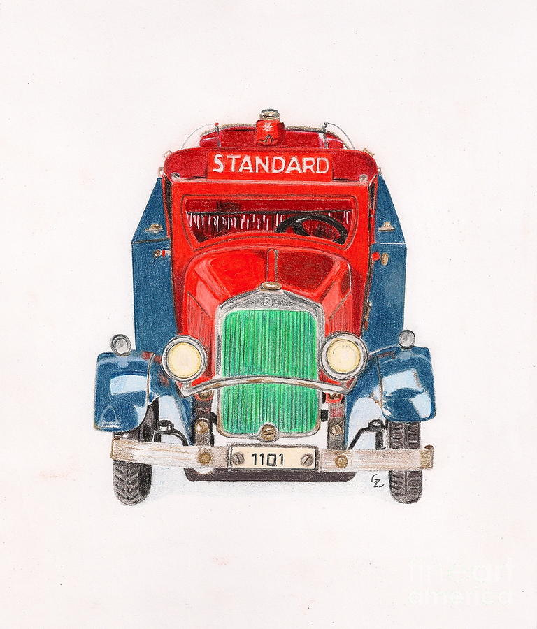 Standard Oil Tanker Drawing  - Standard Oil Tanker Fine Art Print
