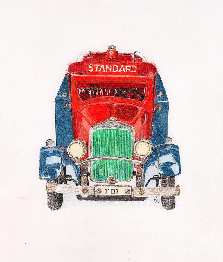 Standard Oil Tanker Drawing