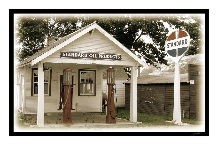 Standard Station - Jackson Co. Fair Grounds Minnesota Photograph