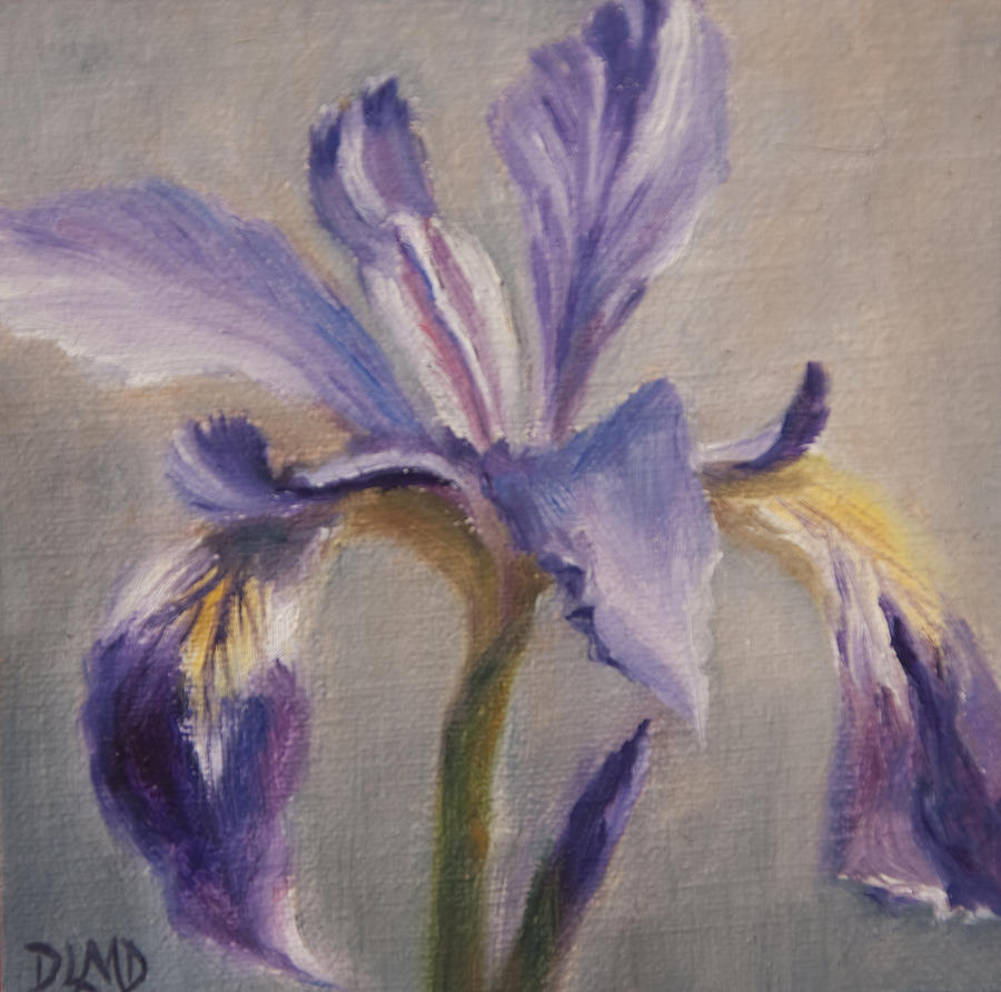 Floral Painting - Standing Tall by Debbie Lamey-MacDonald