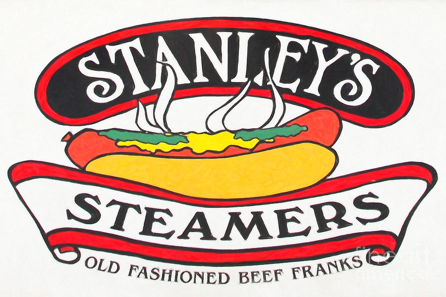 Hotdog Photograph - Stanleys Steamers Hot Dog Sign - 5d17929 - Painterly by Wingsdomain Art and Photography