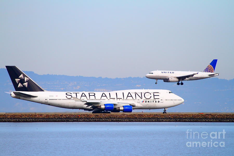 Star Alliance Airlines And United Airlines Jet Airplanes At San Francisco International Airport Sfo  Photograph