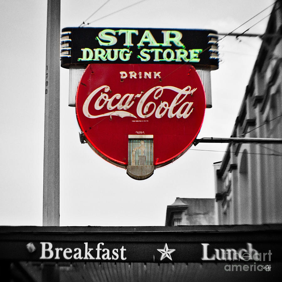 Star Drug Store Photograph  - Star Drug Store Fine Art Print