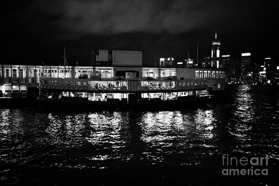 Star Ferry Tsim Sha Tsui Terminal Kowloon Hong Kong Hksar China Photograph  - Star Ferry Tsim Sha Tsui Terminal Kowloon Hong Kong Hksar China Fine Art Print