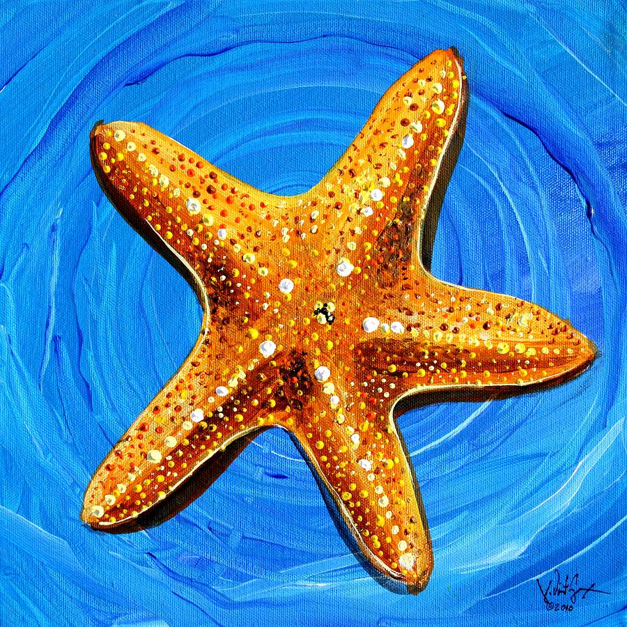 Star Fish Star Bright ... Painting  - Star Fish Star Bright ... Fine Art Print
