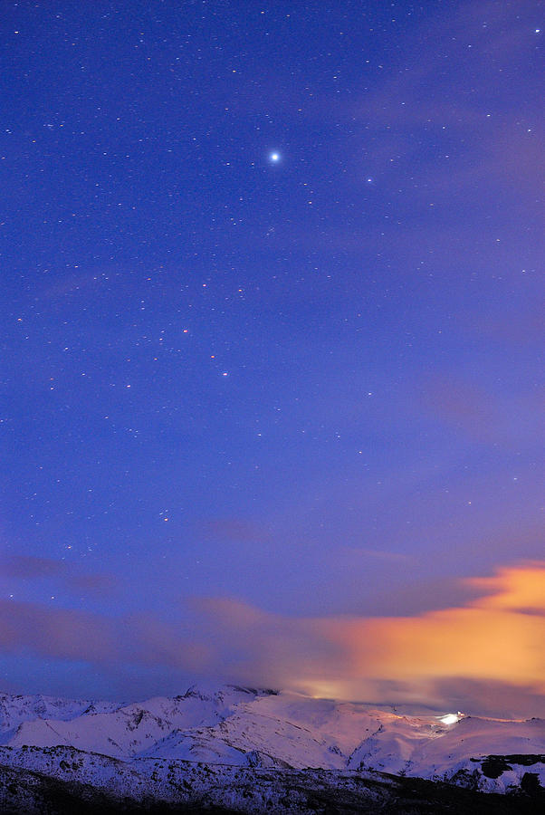 Star Sirius Over National Park Sierra Nevada At Sunset. Constelation Canis Mayor Photograph  - Star Sirius Over National Park Sierra Nevada At Sunset. Constelation Canis Mayor Fine Art Print