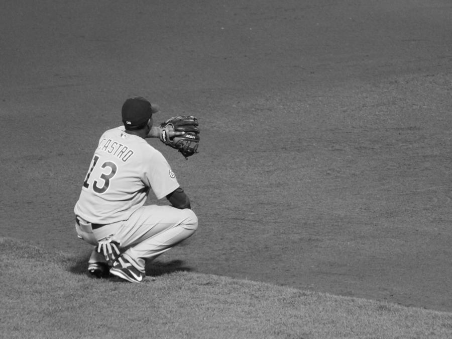 Starlin Castro Chicago Cubs Photograph