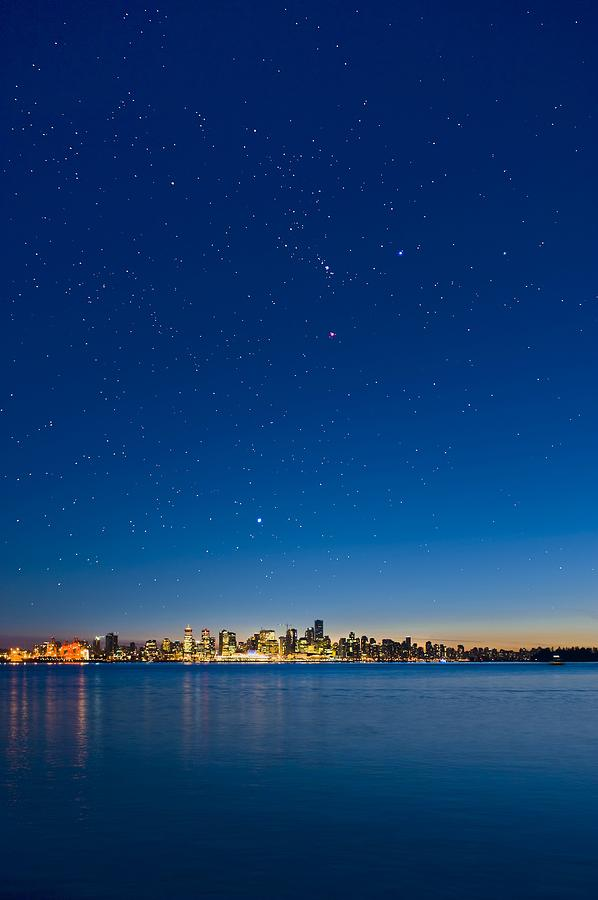 Vancouver Photograph - Stars Over Vancouver, Canada by David Nunuk