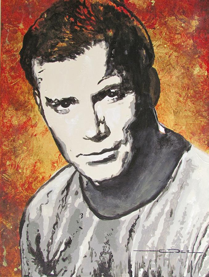 Starship Enterprise Captain Kirk Painting  - Starship Enterprise Captain Kirk Fine Art Print